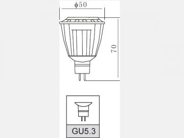 Foco reflector LED de aluminio de 8W