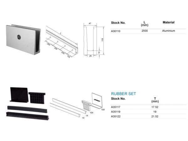 Carriles laterales ligeros de aluminio de for Carriles de aluminio para toldos