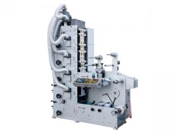 Máquina de impresión flexográfica con troquelado