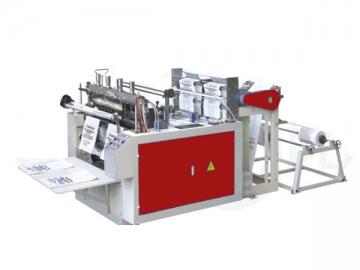 Máquina automática para fabricar bolsas camiseta de sellado  y corte en caliente CW-2/400 HSC
