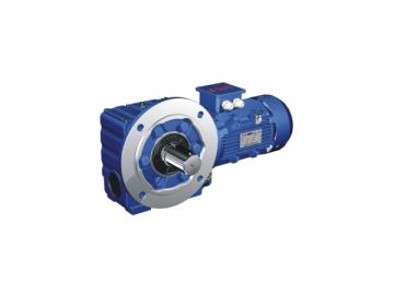 Motorreductor - Reductor de tornillo sin fin (engranajes helicoidales)