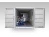 Máquina fabricadora de hielo en bloques tipo contenedor con cámara frío