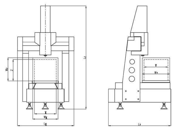 Máquina de      medición por coordenadas (Tipo mesa de trabajo móvil)